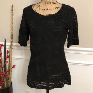 Beige by ECI black blouse